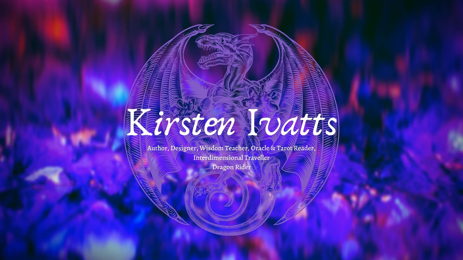 Kirsten Ivatts and dragon
